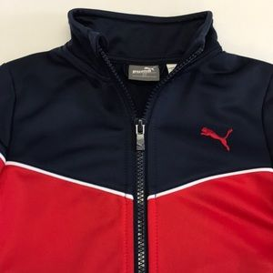 194b7a6b91a8 Puma Jackets   Coats - Puma Zip-up Toddler Jacket In Navy   Red